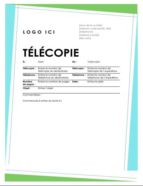 Couverture géométrique de télécopie