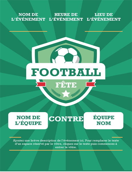 Annonce de fête pour le football (international)