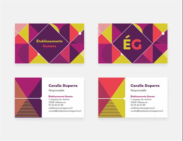cartes professionnelles – Géométrique