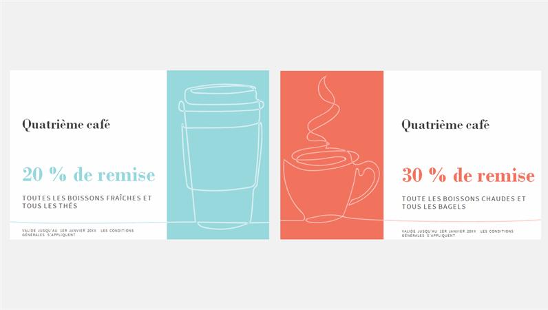 Bons de réduction pour cafés