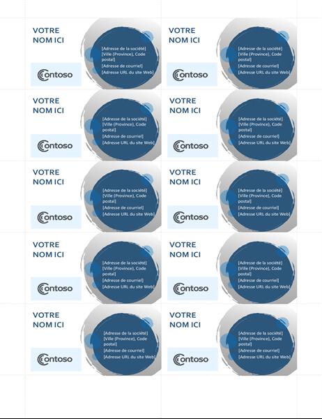 Cartes de visite Sphères bleues