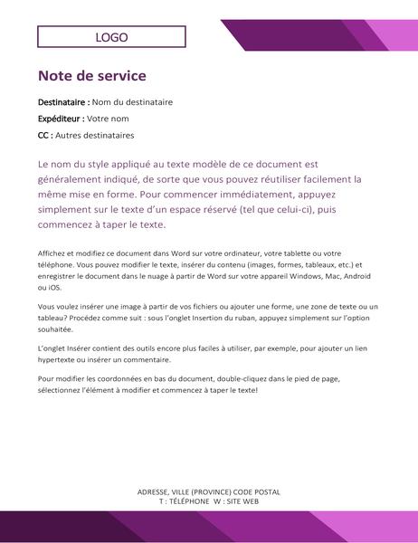 Note de service Logo
