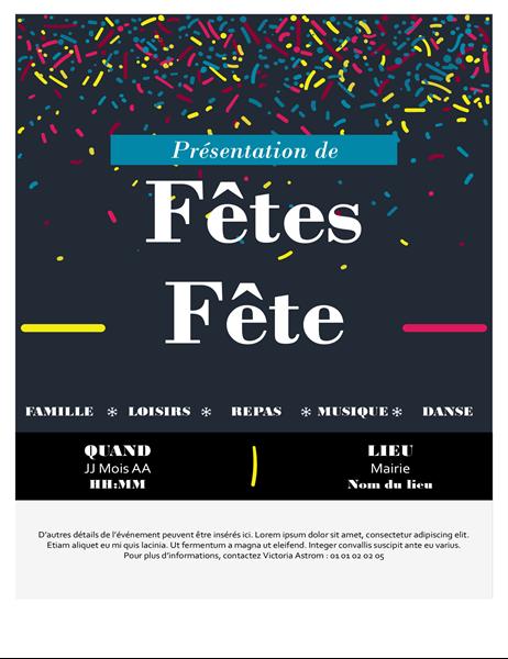 Invitation à un événement pour les Fêtes
