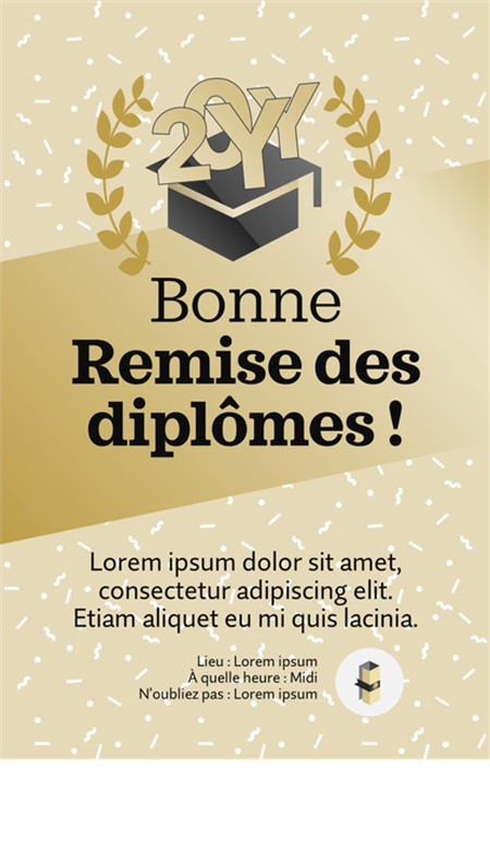 Décorations imprimables pour fêter une remise de diplômes
