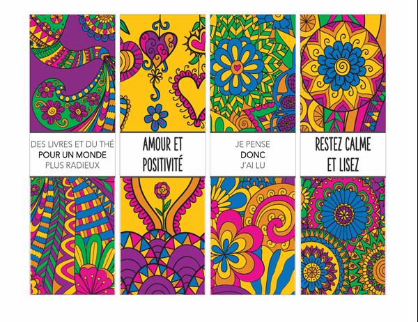 Marque-pages à colorier