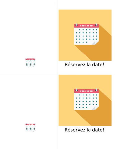 Carte de date à inscrire au calendrier