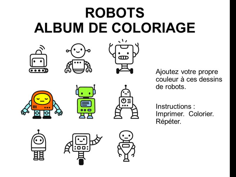 Album de coloriage des robots