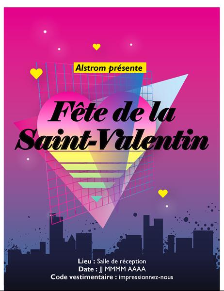 Prospectus de Saint-Valentin Années 80