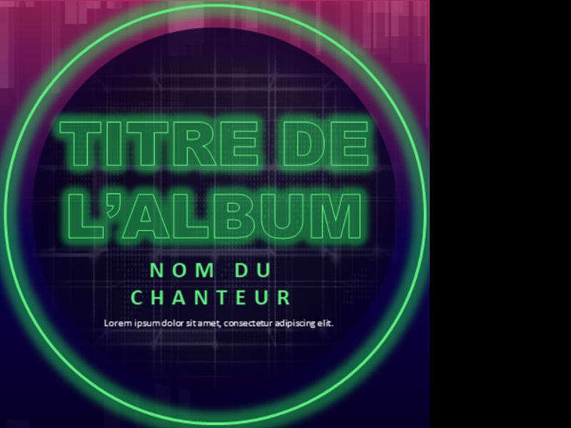 Couverture d'album de musique électronique