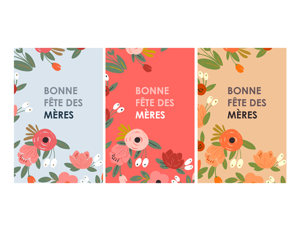 Carte de fête des mères: thème floral élégant