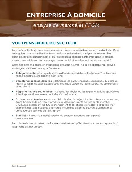Analyse de marché et FFPM pour petite entreprise