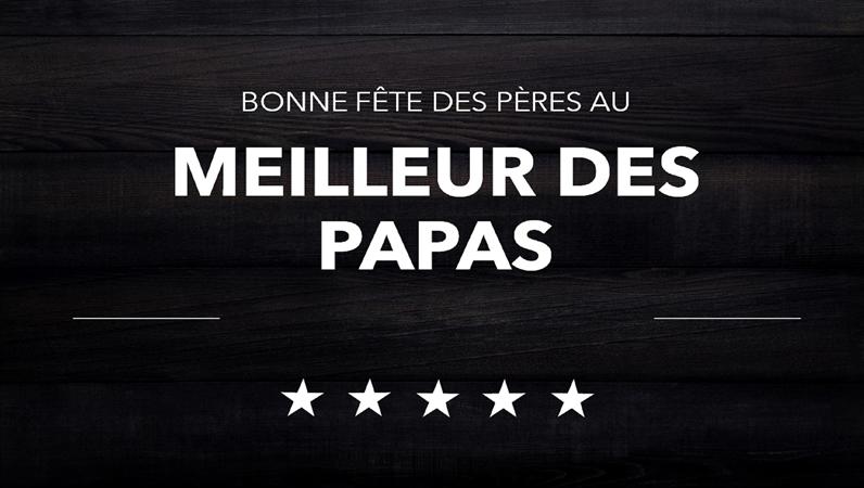 Cartes typographiques de la fête des pères