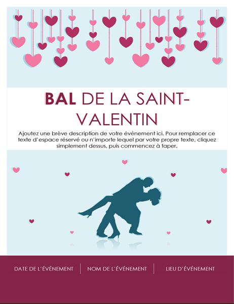Invitation au bal de la Saint-Valentin