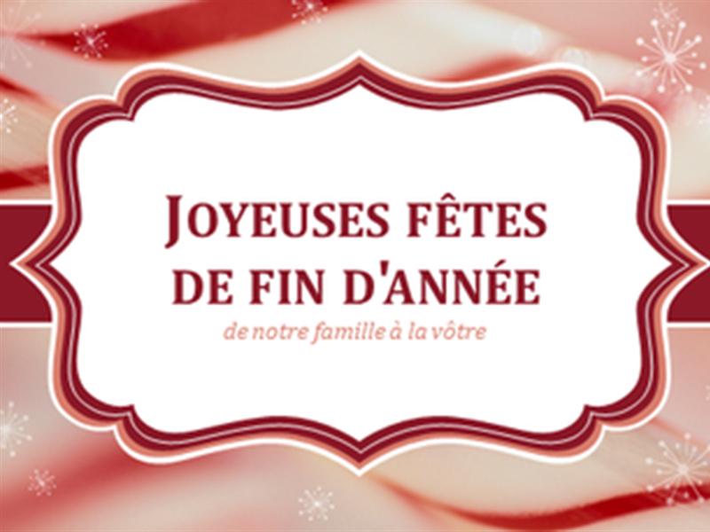 Cartes avec cannes de Noël (2 par page)