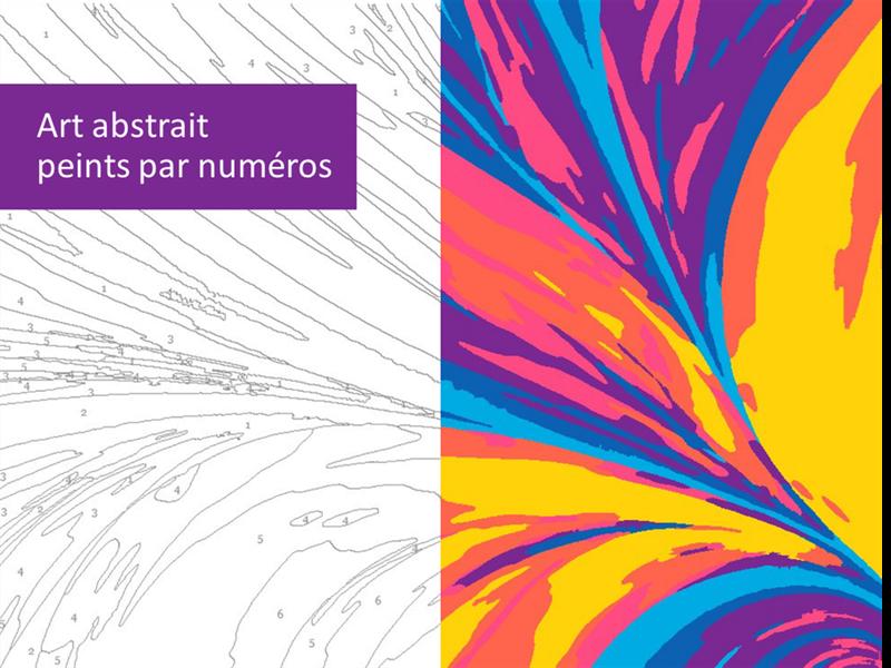 Abstractions peintes par numéro