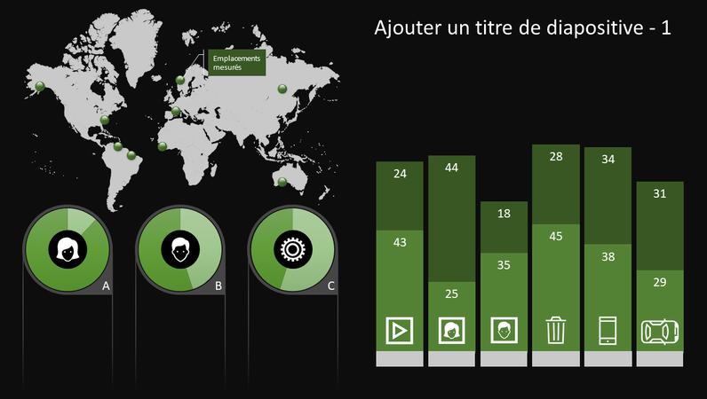 Graphique avec infographie Globe