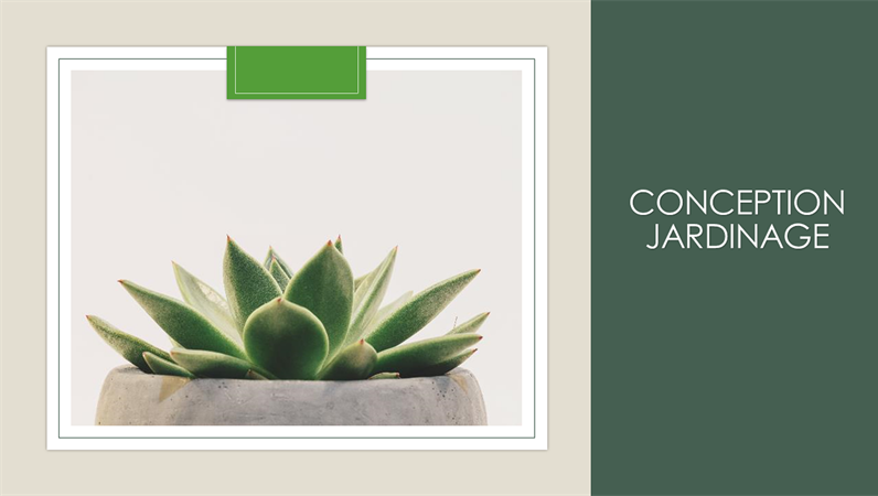 Conception Jardinage