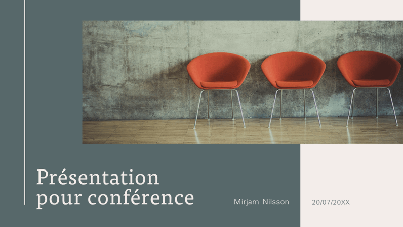 Présentation de conférence moderne