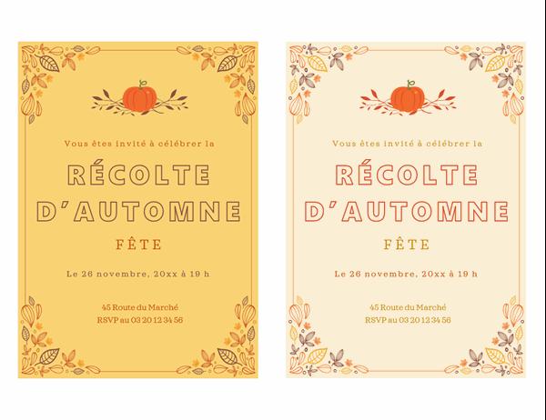 Carton d'invitation – Automne