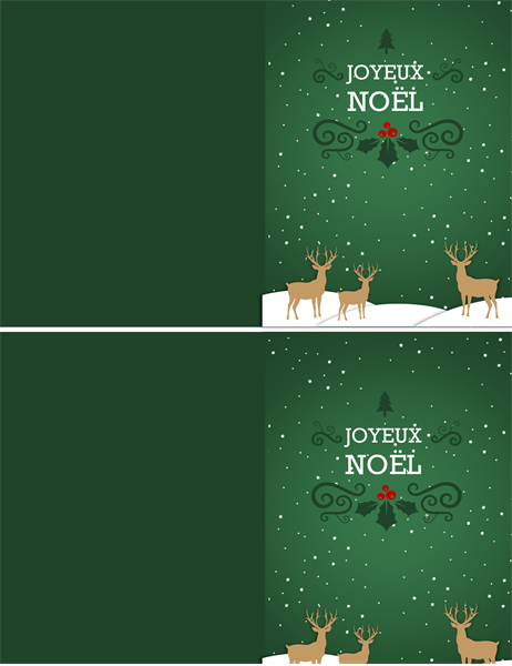 Carte Rennes de Noël