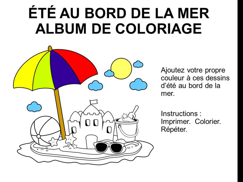 Livre de coloriage Un été au bord de mer