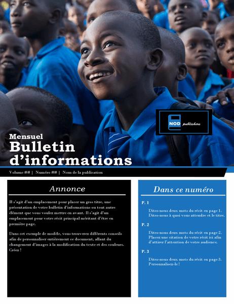 Bulletin d'informations pour les associations à but non lucratif