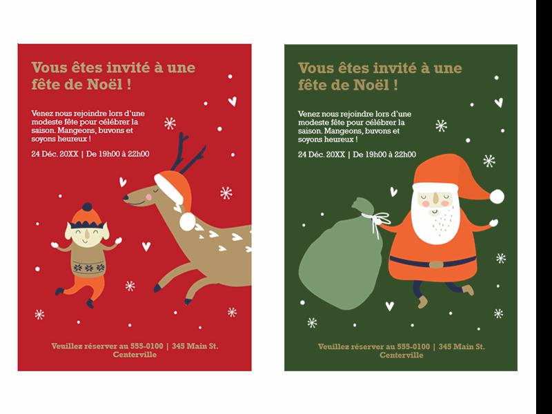 Invitations de Noël