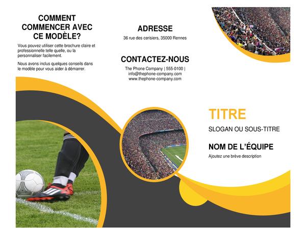 Brochure de sport