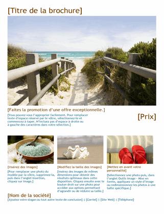 Brochure photo de voyage