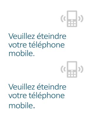 Affiche de rappel pour l'extinction des téléphones portables
