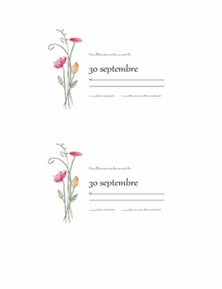 Cartes de réponse (conception aquarelle)