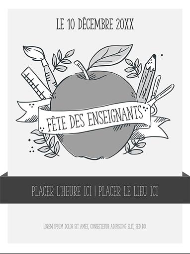 Affiches d'événement en noir et blanc