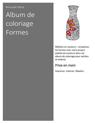 Cahier à colorier Formes