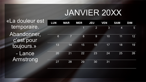 Calendrier de citations mensuelles