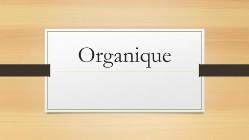 Bois organique foncé