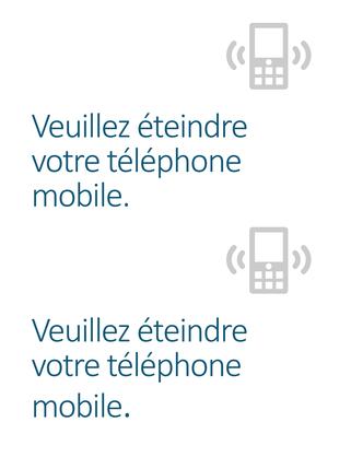 Poster de rappel pour l'extinction des téléphones portables