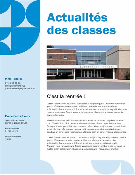 Bulletin d'informations de classe