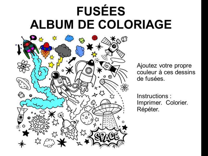 Album de coloriage des fusées
