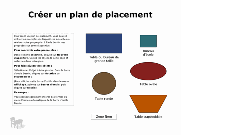 Plan de placement