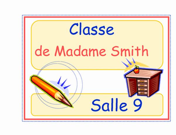 Étiquette de classe (élémentaire)