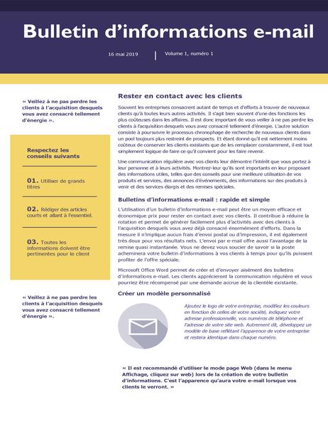 Bulletin d'informations