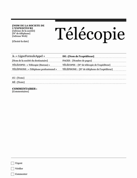 Télécopie publipostage (Thème Urbain)