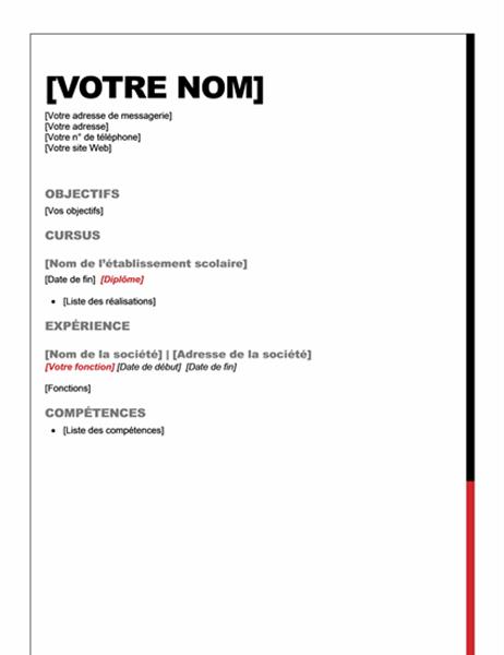 CV (création Essentiel)