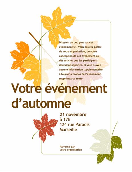 Prospectus pour événement d'automne (avec des feuilles)