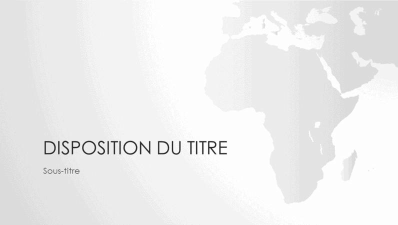 Série de cartes du monde, présentation Continent africain (écran large)