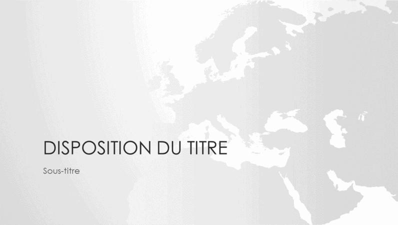 Série de cartes du monde, présentation Continent européen (écran large)
