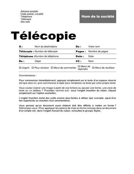 Page de garde de télécopie (conception professionnelle)