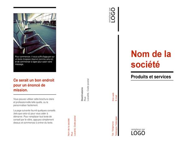Brochure à trois feuillets (Rouge et noir)