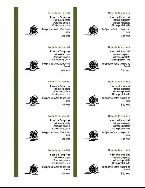 Cartes de visite (page de 10)