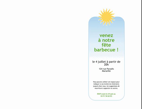 Invitation à un barbecue